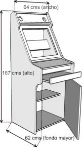 Medidas de nuestro mueble arcade clásico