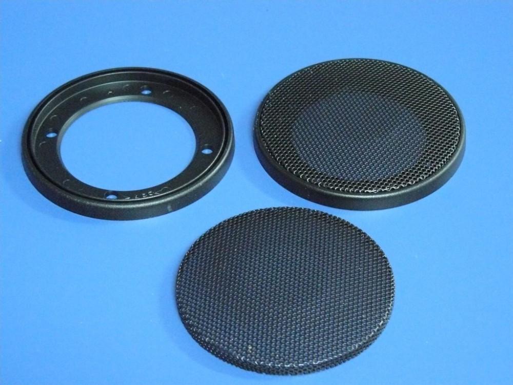 Detalle de la rejilla circular (desmontada y montada)
